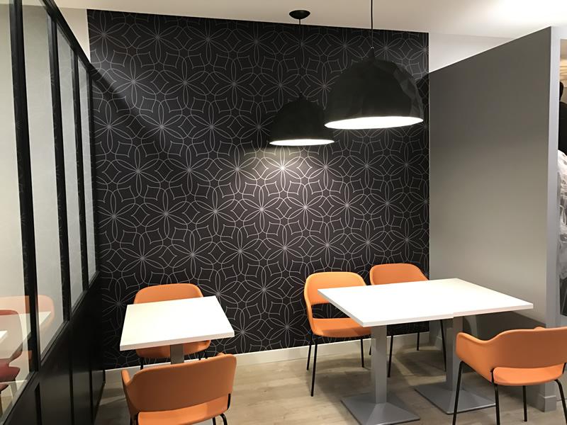 Revêtement mural restaurant