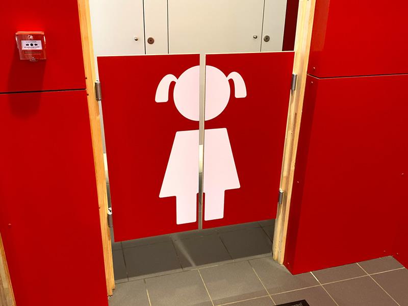 Signalétique WC par pictogramme adhésif